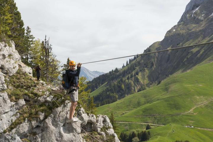Monkey Bridge on the Via Ferrata