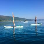 Yoga & stand up paddle activity