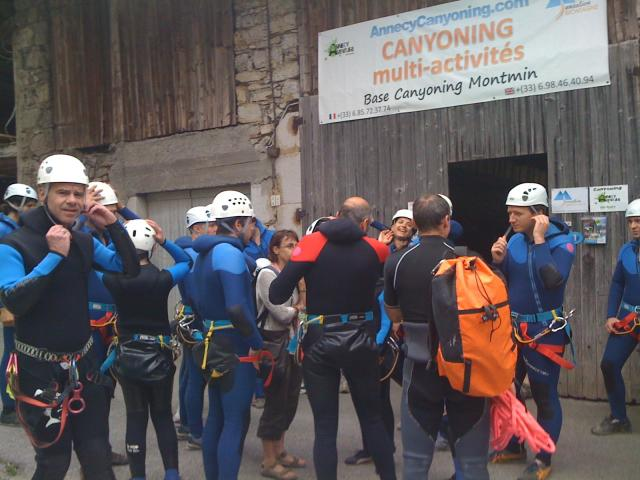Week-end CE Canyoning Annecy