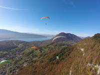 Paragliding flight at Annecy