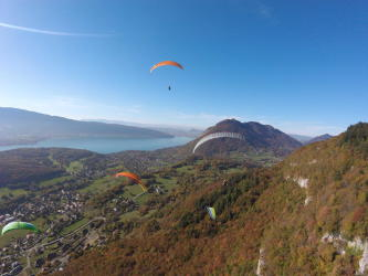 Kid Paragliding Flight Annecy