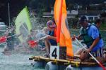 Raft building seminar upon Annecy's lake