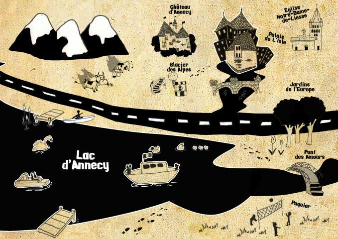 Carte chasse au trésor Annecy