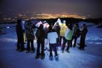 Snowshoeing night hike