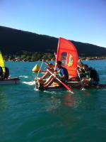Building rafts seminars lake Annecy