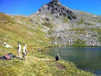 Trekking scenery Lake Annecy