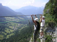 Monkey bridge Via ferrata Seminars Annecy