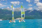 Initiation catamaran lac Annecy