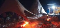 Soirée d'hiver au Village Tipi