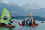 Radeaux sur le lac d'Annecy