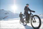 Vélo électrique sur neige