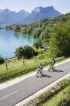 bike on cycle path along the lake