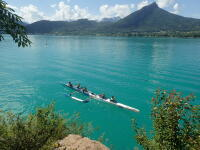 Va'a on Annecy Lake