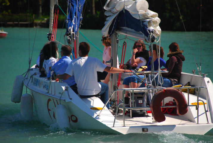 Sailing on annecy's lake