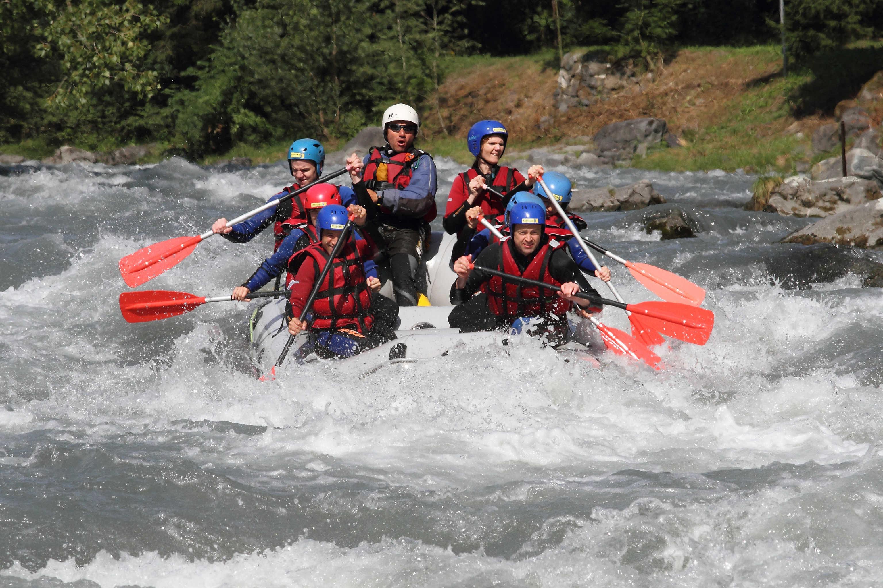 Descente en Rafting vers Annecy
