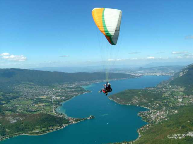 Paragliding Flight at Annecy Lake