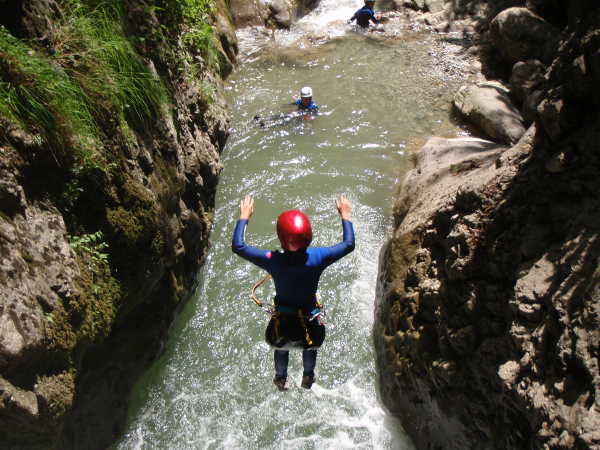 canyoning lac d'annecy
